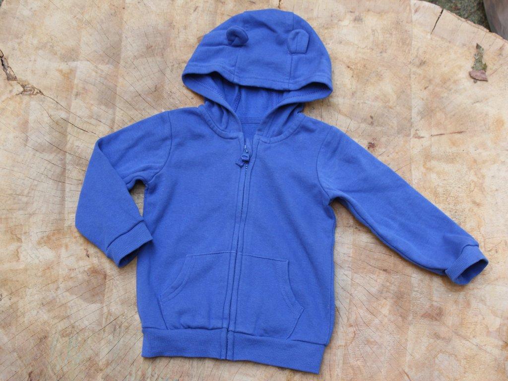 modrá mikina na zip George 12-18M