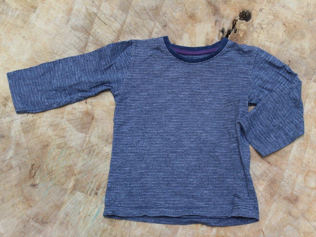 šedo-modré tričko dl.rukáv Matalan 3-4Y