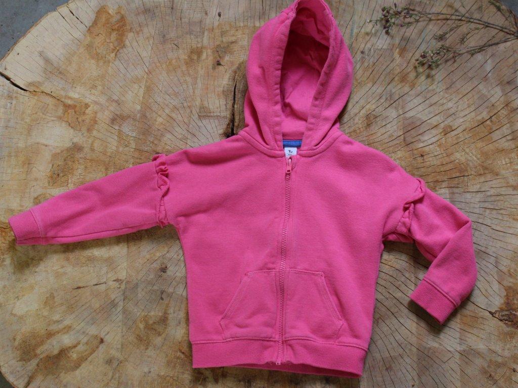 růžová mikina s kapucí TU 2-3Y