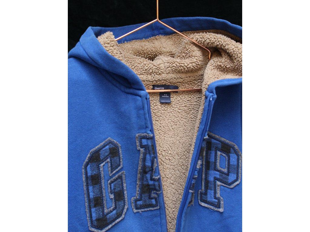 modrá zateplená mikina s kapucí GAP 130