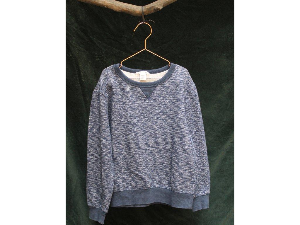 modrá Basic mikina H&M 10-12Y