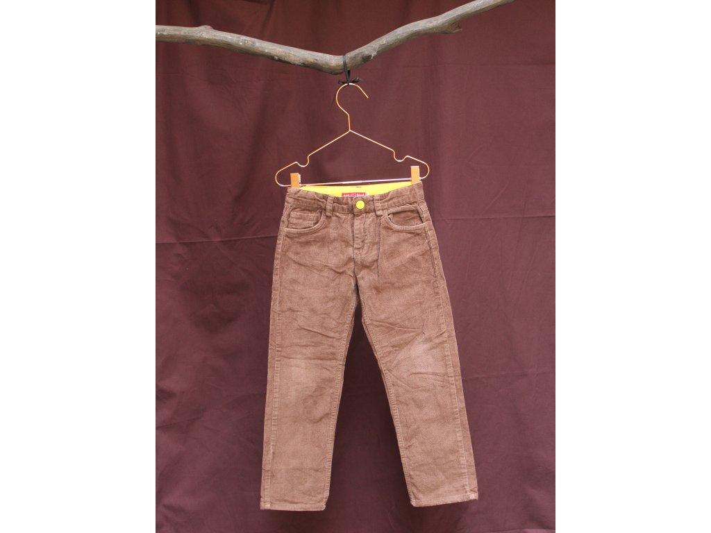 hnědé manšestrové kalhoty Little Bird 4-5Y