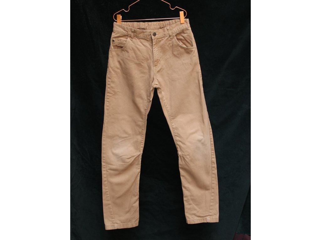 hnědé bavlněné kalhoty George 11-12Y