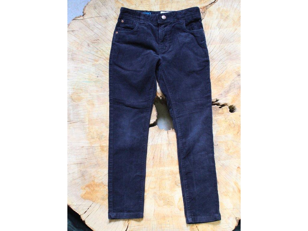 tmavě modré manšestrové kalhoty Next 134