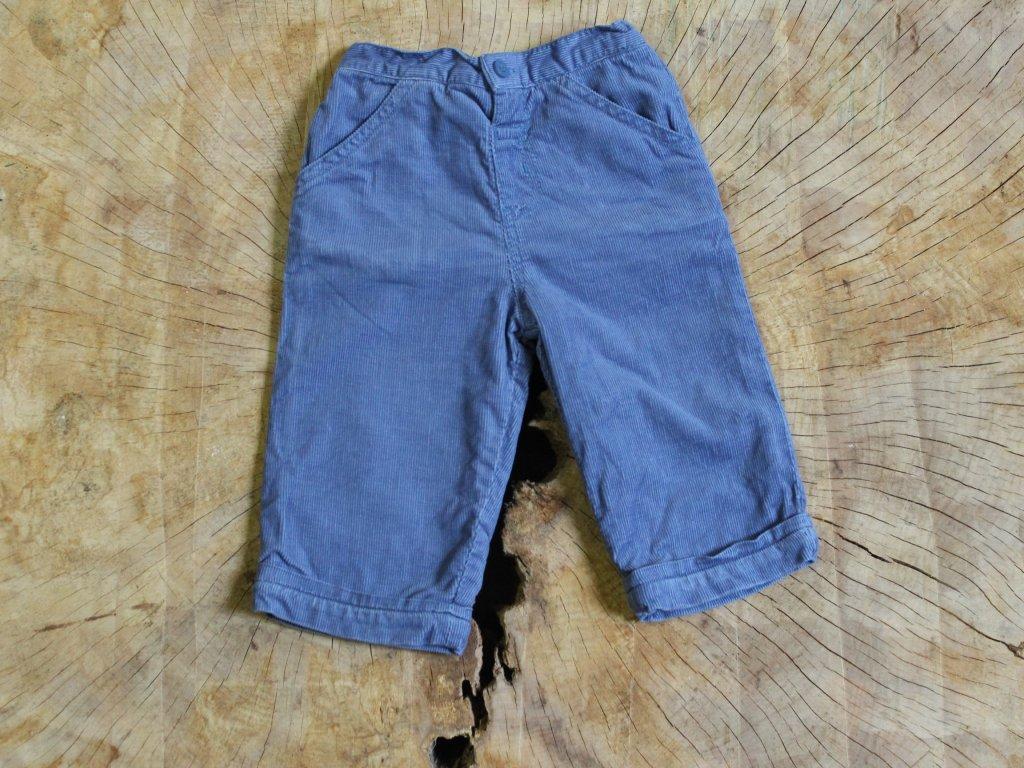 modré manšestrové kalhoty TU 74