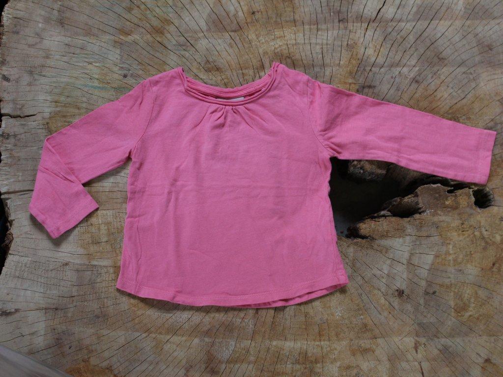 růžové basic tričko s dlouhým rukávem Next 86