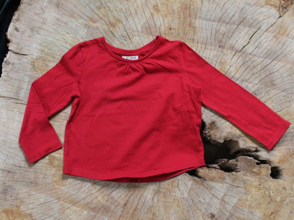 červené basic tričko s dlouhým rukávem Next 86