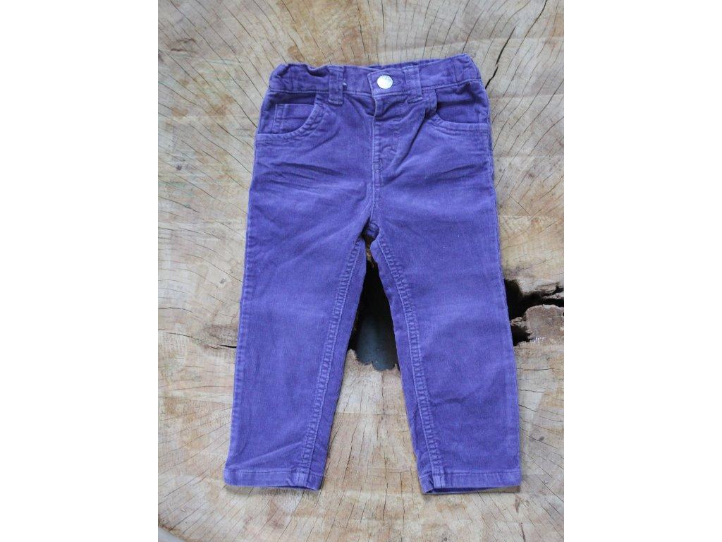 fialové manšestrové kalhoty M&S 92