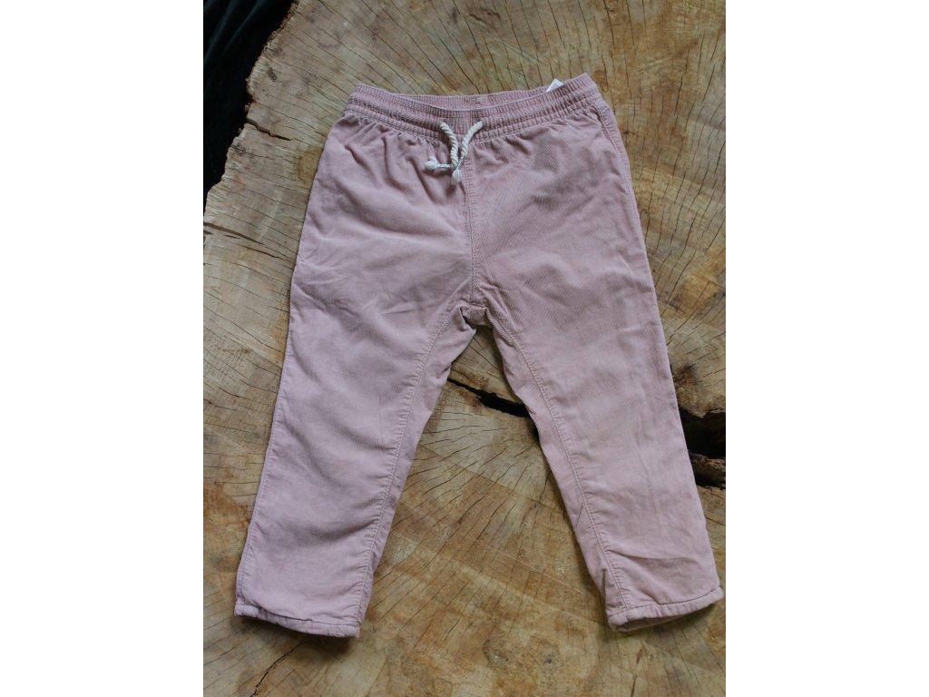 světle růžové manšestrové kalhoty H&M 92