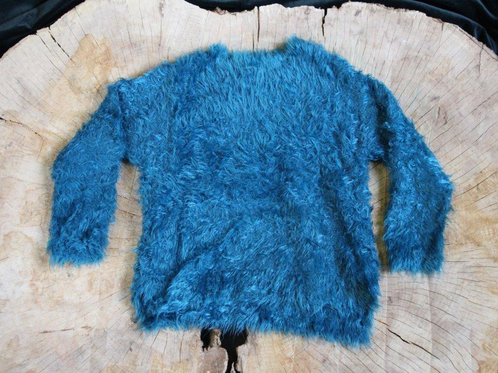 tyrkysový chlupatý svetr Next 116