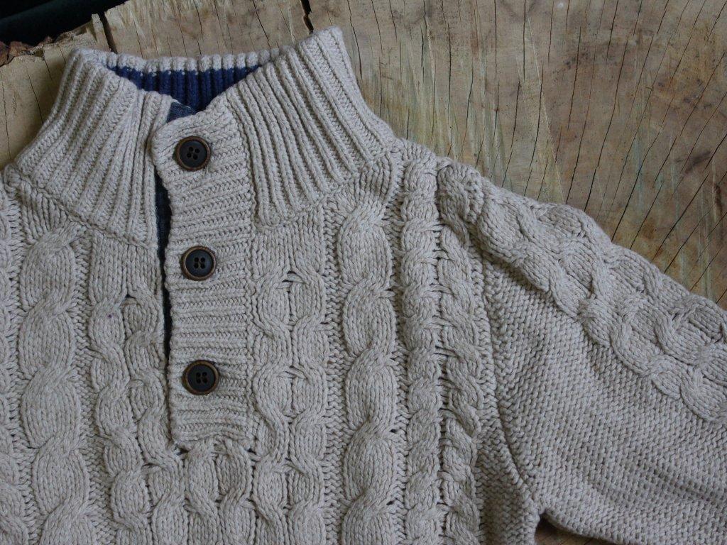 pletený béžový svetr H&M 4-6Y
