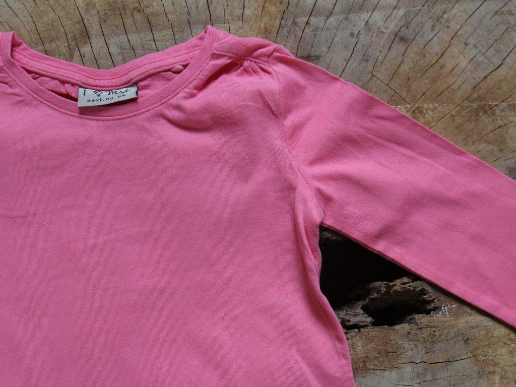 růžový bavlněný set tričko+tepláčky Next 92