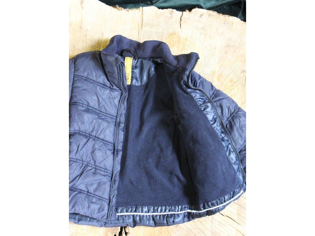 tm.modrá prošívaná bunda Zara 104