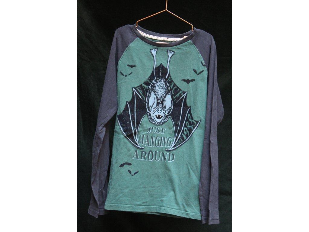 modro-zelené triko s netopýrem FATFACE 13-14Y