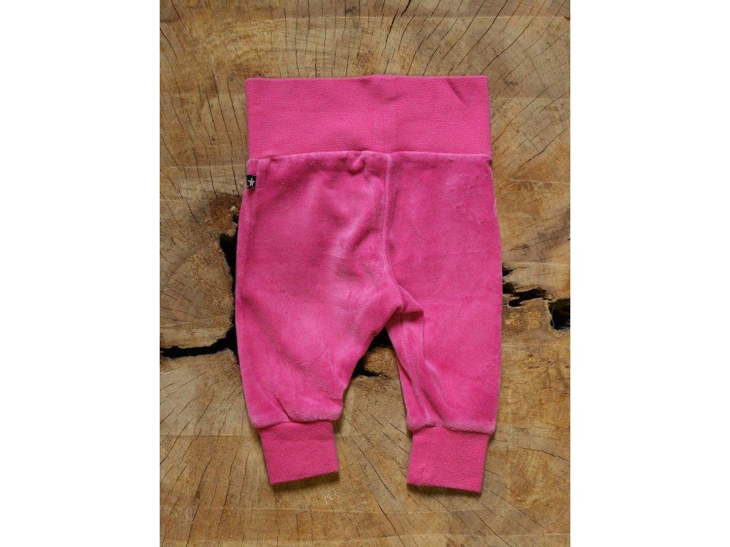 růžové froté kalhoty Lindex Baby 56