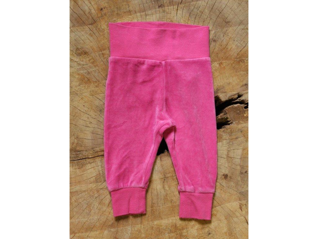 růžové froté kalhoty Lindex Baby 68