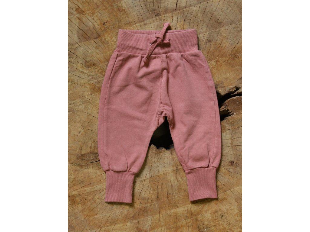 pastelově růžové tepláky Lindex Baby 68
