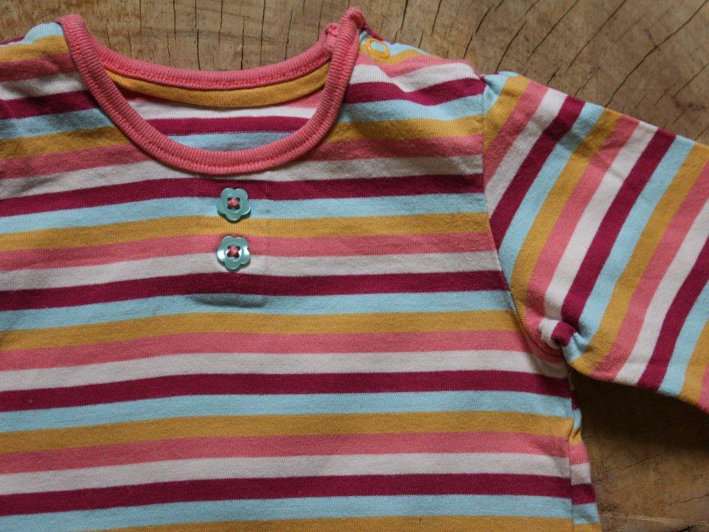 proužkované tričko s dl.rukávem M&S 3-6M