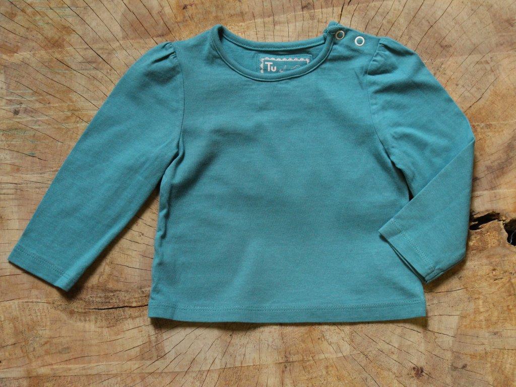 tyrkysové tričko s dl.rukávem TU 3-6M
