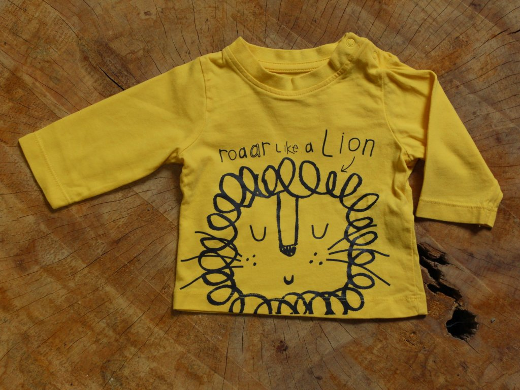 newborn žluté tričko s dlouhým rukávem Nutmeg 50