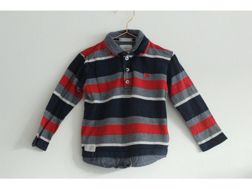 proužkované tričko s límečkem Junior J 3-4Y