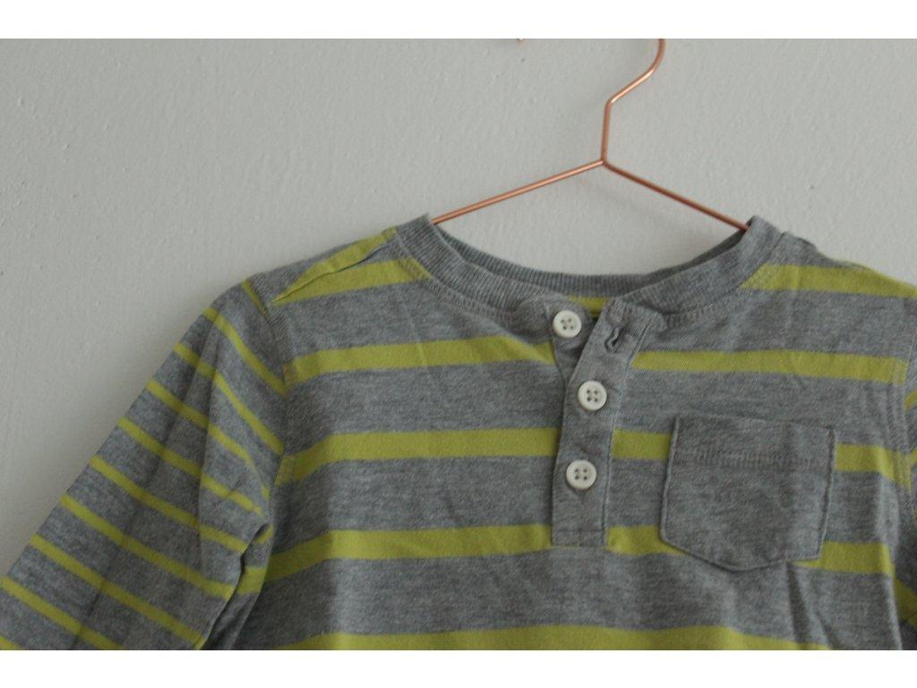 proužkované tričko s knoflíčky Nutmeg 92