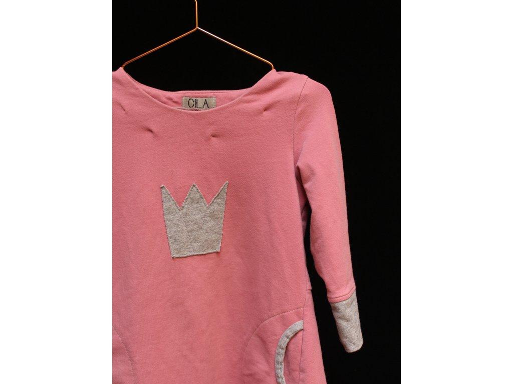 starorůžové šaty CILA 116-128Y