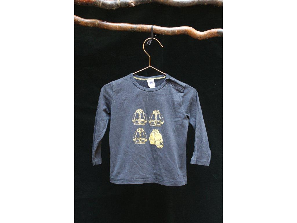 tmavě modré tričko Petit Bateau 86