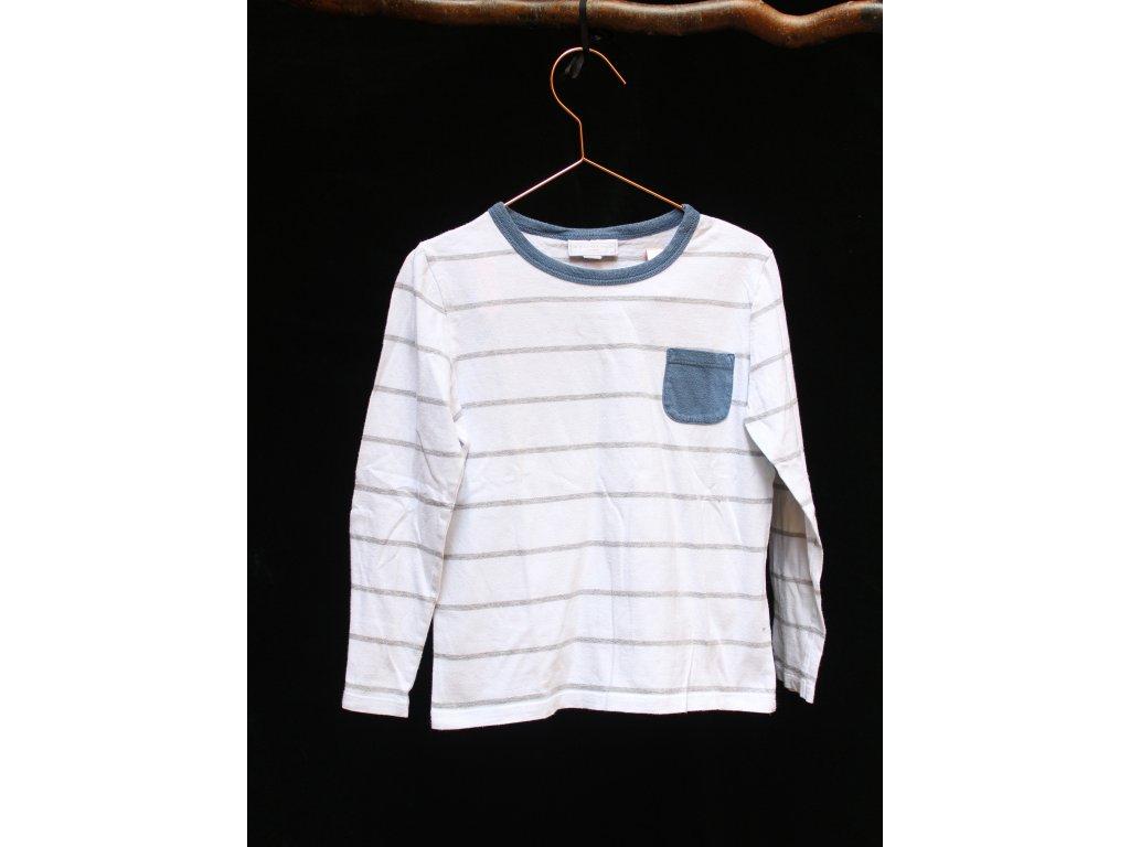 tričko s dlouhým rukávem Little White Company 5-6Y