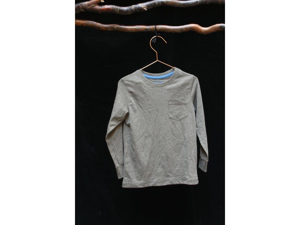Olivově zelené tričko s dlouhým rukávem Matalan 5Y