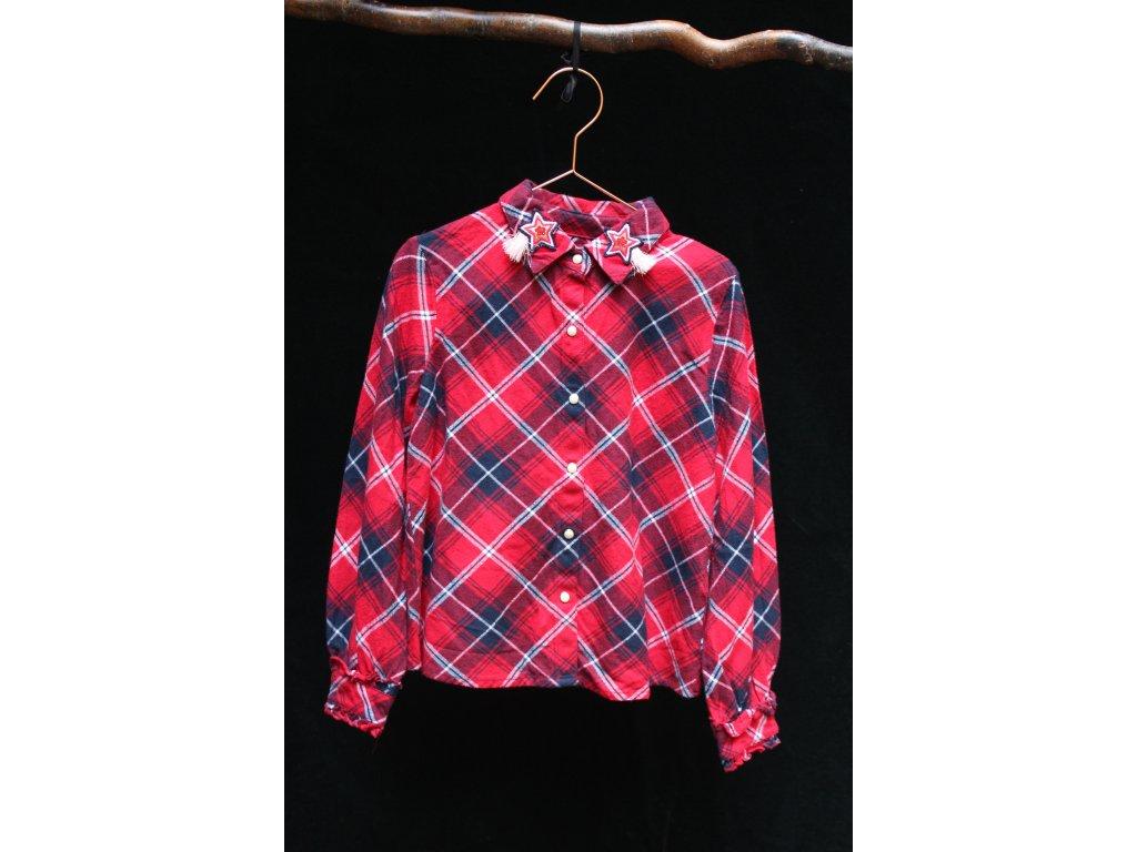 vychytaná bavlněná károvaná košile M&S, 7-8Y