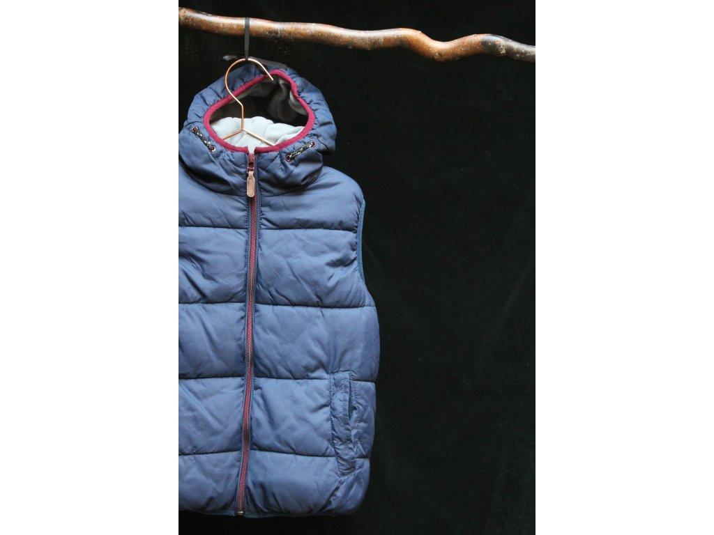 UNI tmavě modrá vesta s kapucí Next 128