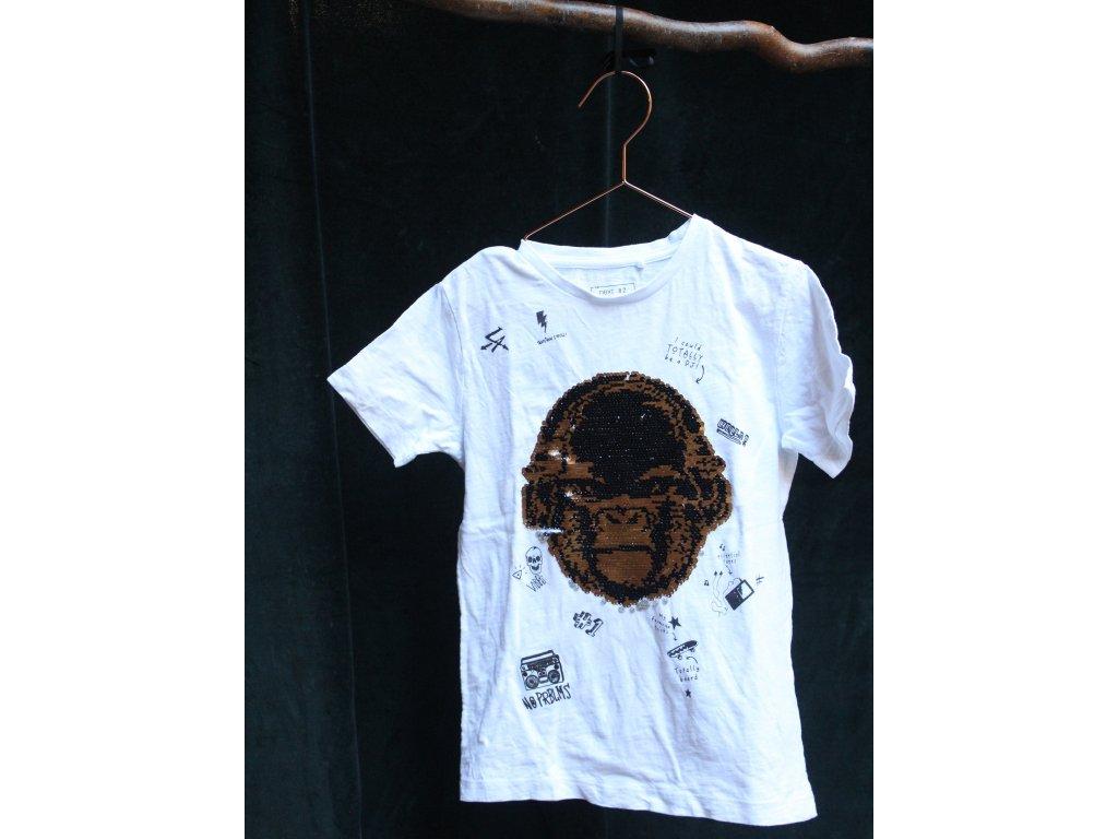 Tričko bílé s přeměňovacím obrázkem Next 122