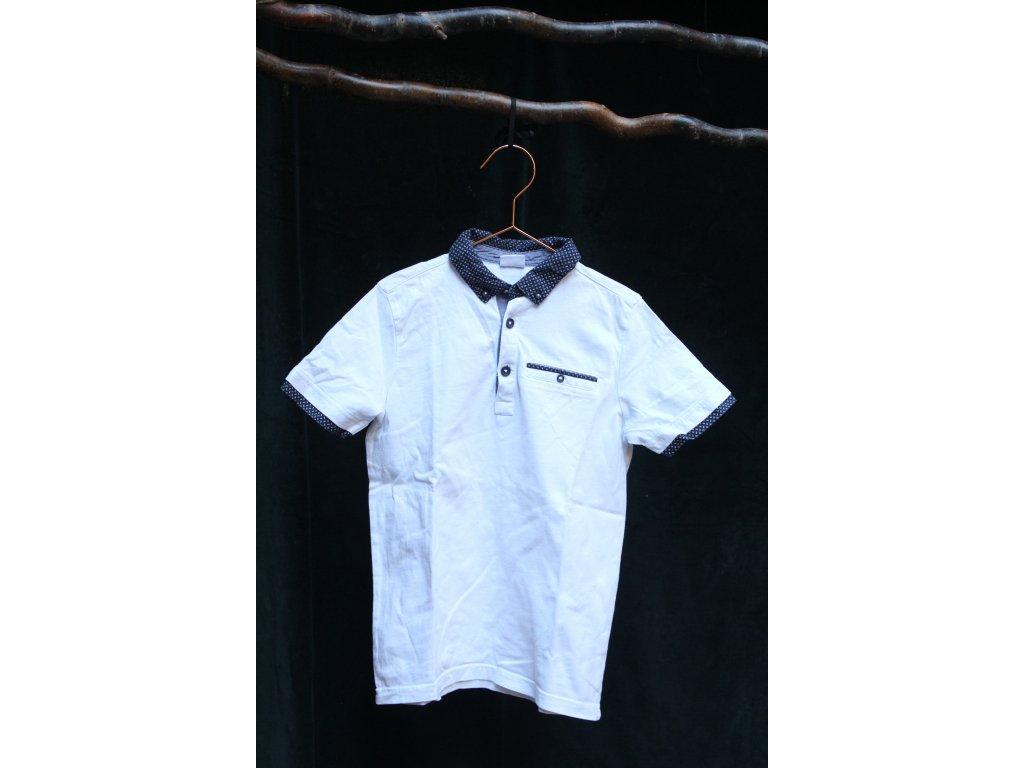 bílé tričko s límečkem FnF 134