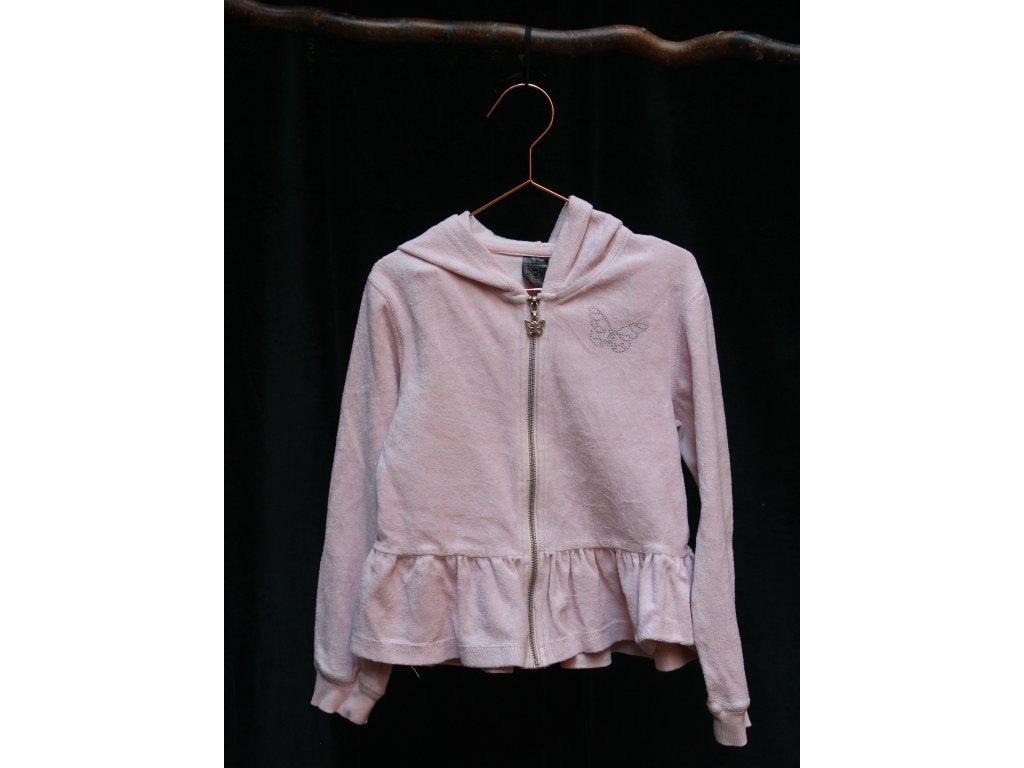 světle růžová bavlněná mikina Ellos 122-128