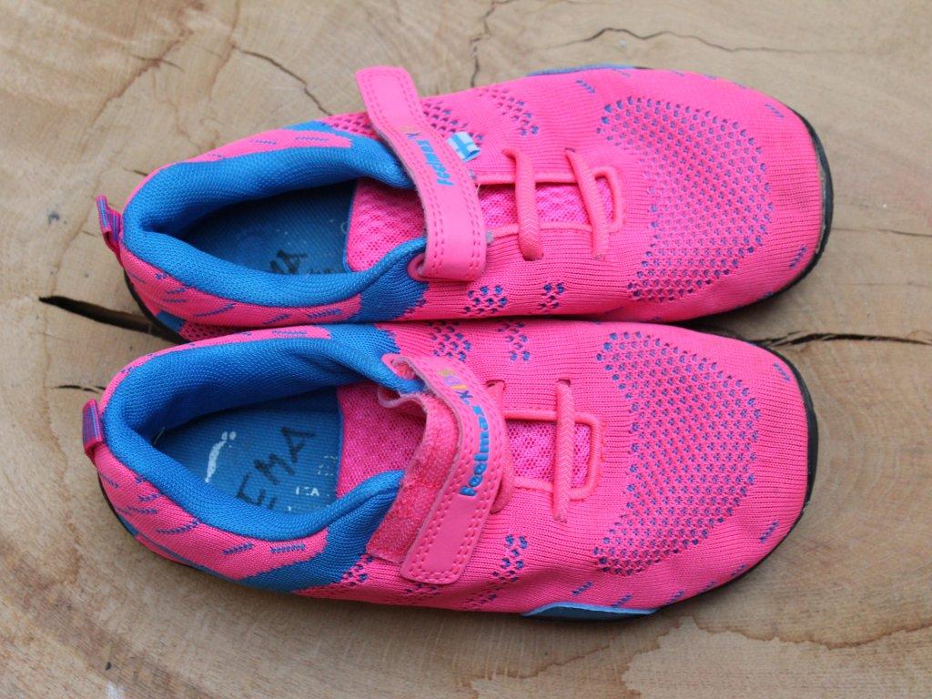 růžové barefoot tenisky Feelmax kids 32
