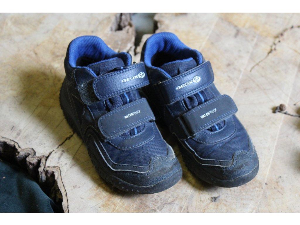 modré kotníčkové boty Geox 29