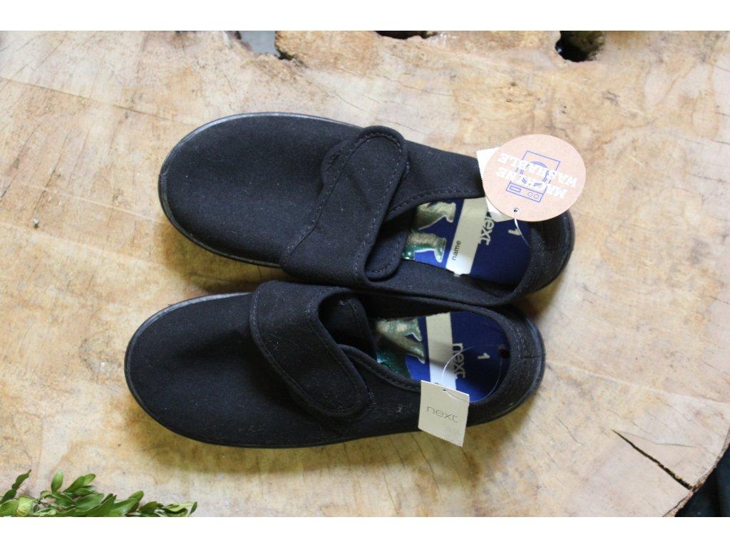 černé plátěné boty Next 33