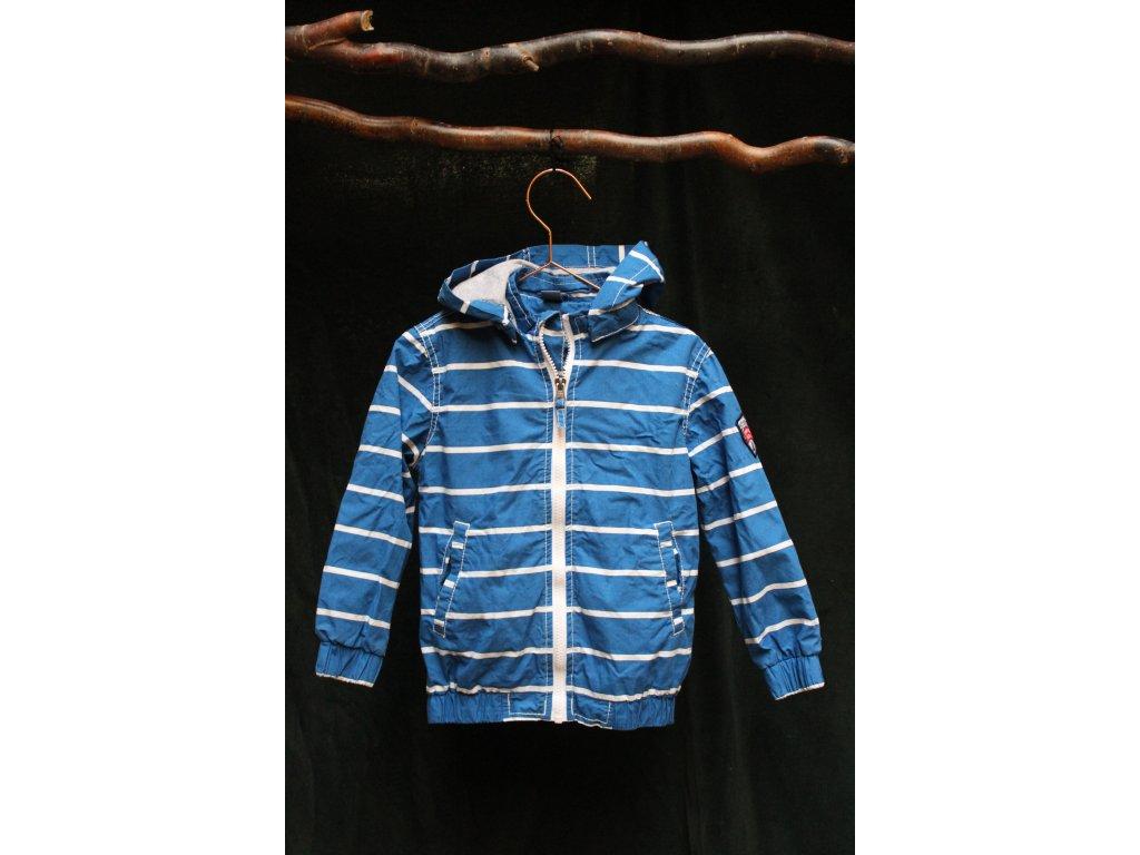 jarní bunda modrý proužek Dopo Dopo Boys 104