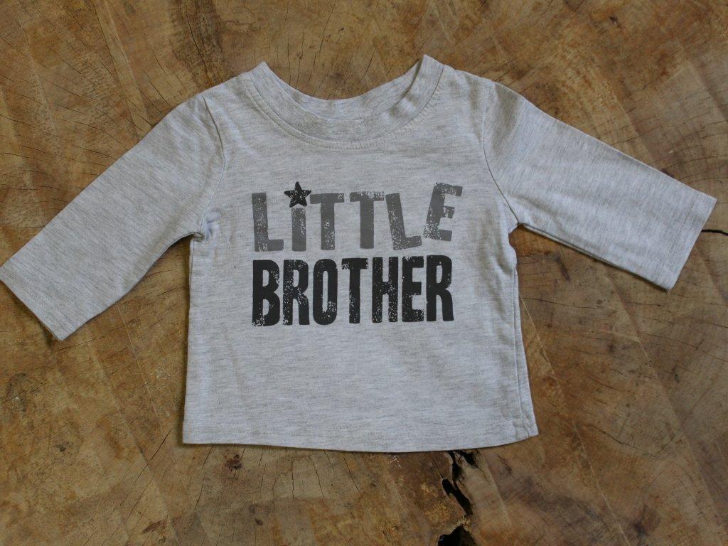 šedé tričko Little brother George 0-3M