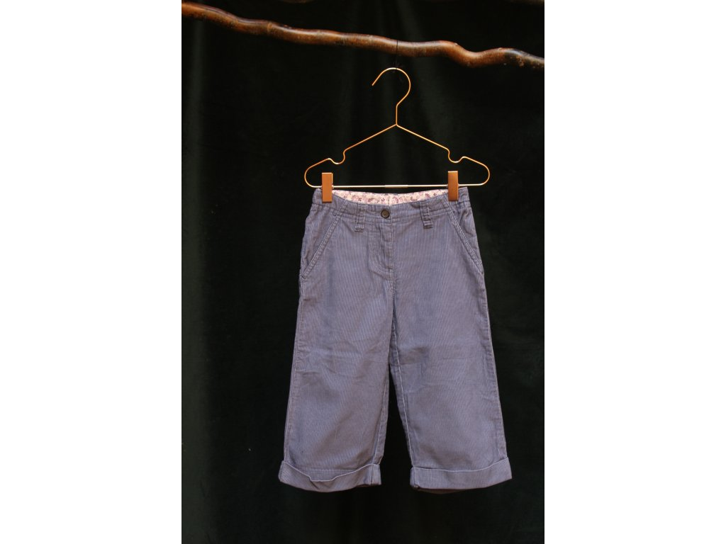 fialové tříčvrťové manšestráky Mini Boden 5-6Y