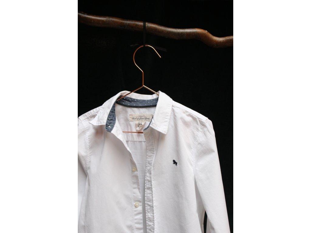 bílá košile s dlouhým rukávem H&M 7-8Y