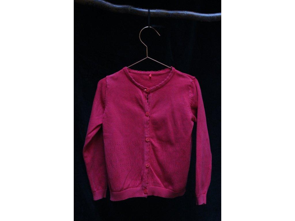 červený propínací svetřík George 4-5Y