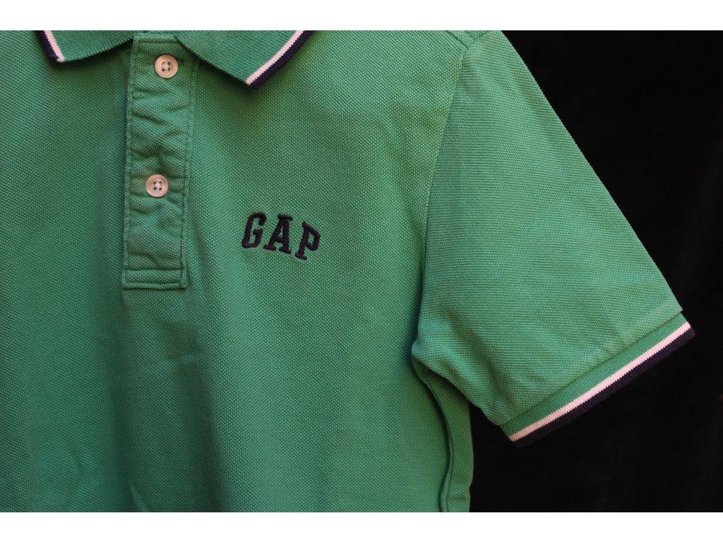 zelené polo tričko s kr.rukávem GAP 6-7Y
