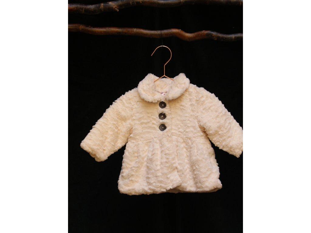 bílý huňatý kabátek George 3-6M
