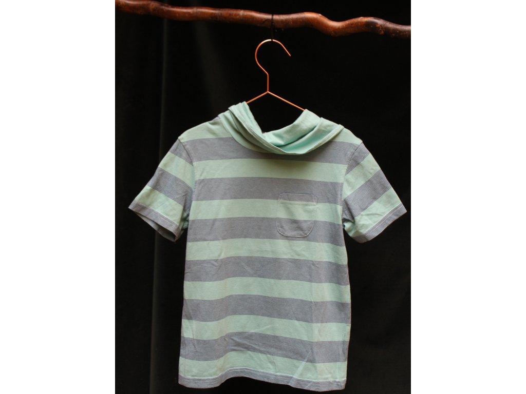 příjemné zelené pruhované triko George 128