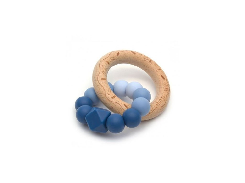 mimijo silikonove kousatko donut nebe sv modra tm modra