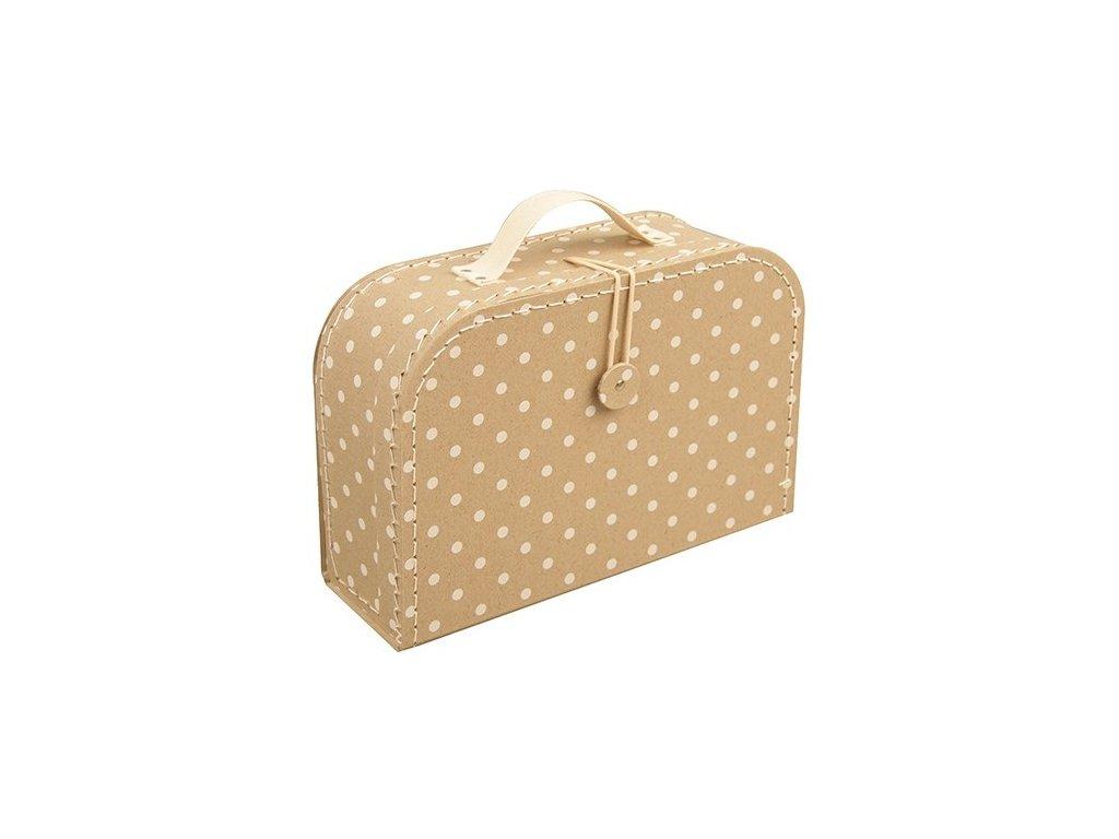 kazeto detsky kufrik s puntiky vel 25 cm 1