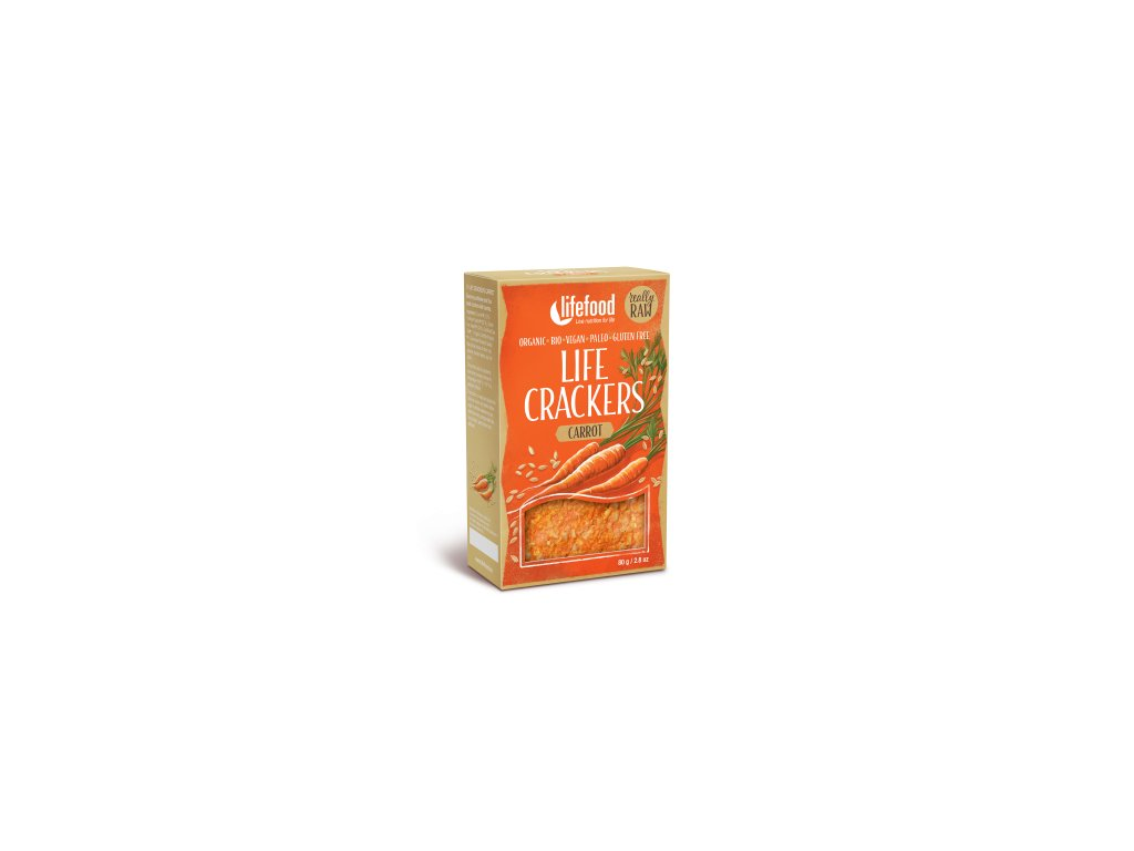 Life Crackers CARROT mrkvanky bio raw lifefood 400 400