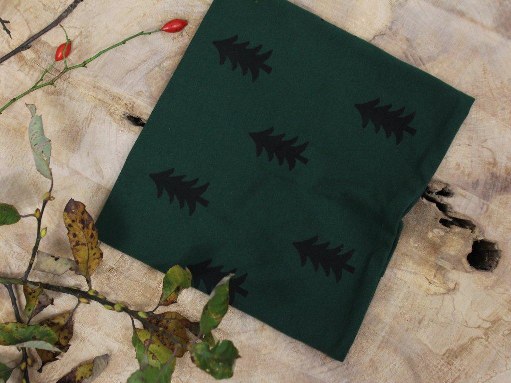 nákrčník zelený stromky Šimido